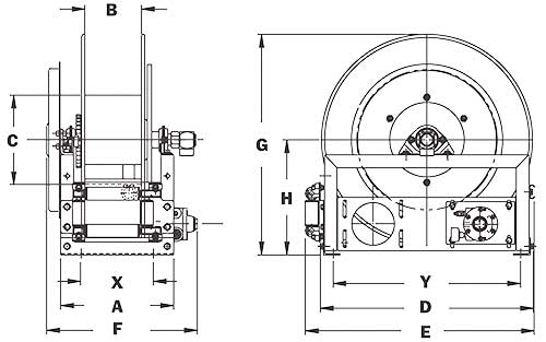 Dimensions for AG900 Series