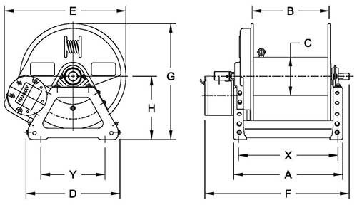Dimensions for F1500 Series