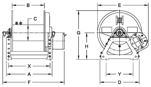 Dimensions for F2000 Series