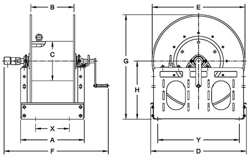 Dimensions for F3100 Series
