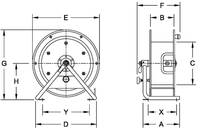 Dimensions for GCR Series