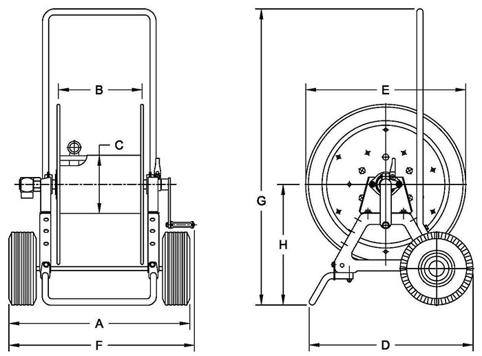 Dimensions for GHAT1200 Series