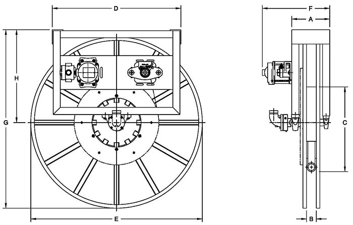Dimensions for IV5000 Series