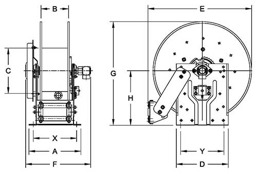 Dimensions for N800 Series