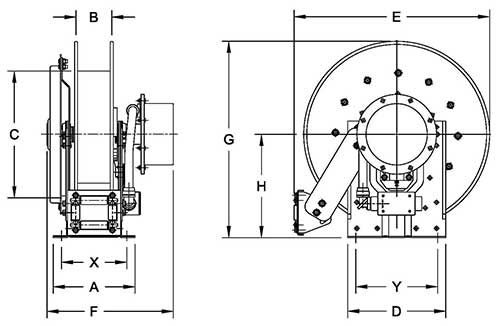 Dimensions for NSCR700 Series