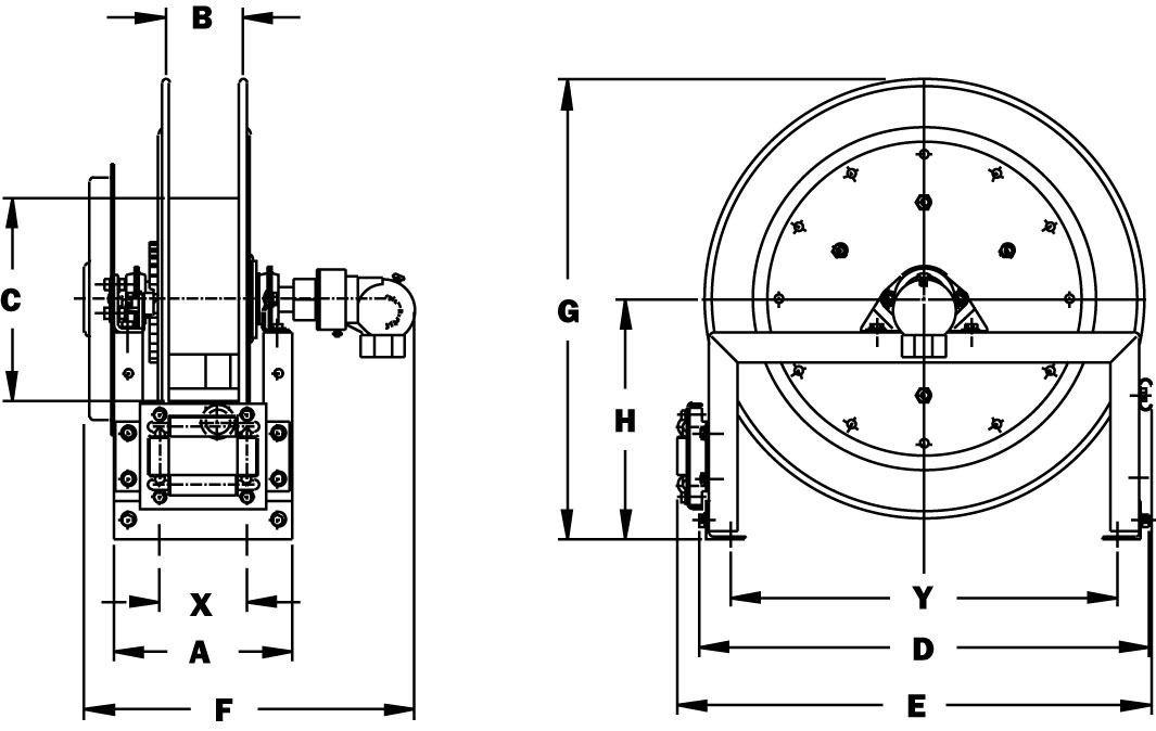 Dimensions for SPB800 Series