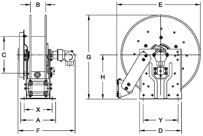 Dimensions for SPBN800 Series