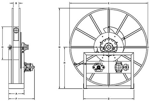 Dimensions for V-5000 Series