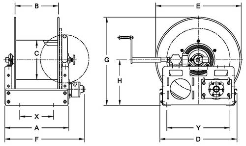 Dimensions for WCR Series